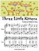 Three Little Kittens - Easiest Piano Sheet Music Junior Edition