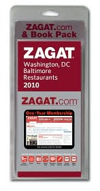 Zagat.com Pack Washington, DC Restaurants 2010 - Zagat Survey