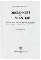 Rotae Romanae decisiones seu sententiae. Selectae inter eas quae anno 2000 prodierunt cura eiusdem Apostolici Tribunalis Editiae. Vol. 92
