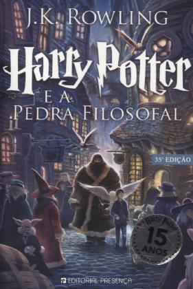 Harry Potter, portugiesische Ausgabe: Harry Potter e a Pedra Filosofal - Rowling, Joanne K.